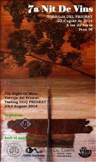 Cartell Nits de Vins de Torroja del Priorat 2014